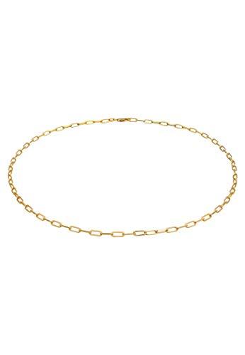 Elli Collares Cadena Básica Ovalada de Enlaces para Señoras Tendencia Mínima en Plata de Ley 925