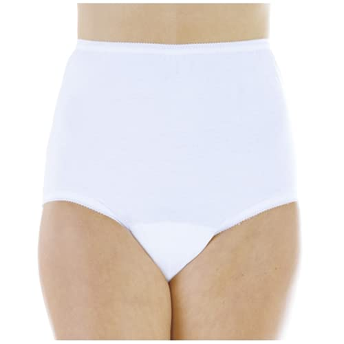 Wearever (3-Pack) Women's White Cotton Comfort Regular Absorbency (0.5 Cup) Incontinence Panty Large (Fits Hip Sizes: 41-42')