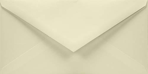 50 Elfenbein DIN lang Briefumschläge ohne Fenster Spitzklappe 110x220 mm 120g Aster Smooth Ivory DL Umschläge für Einladungskarten Geburtstagskarten Glückwunschkarten Grußkarten
