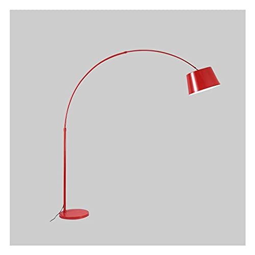 zdz Lámpara de pie de Metal Negro, Control Remoto 12w Brillante DIRIGIÓ Luz de Piso de la parábola de atenuación Continua Moderna, para Dormitorio, Sala de Estar. (Color : Black)