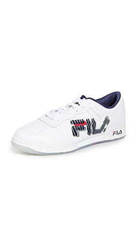 Fila Zapatillas de deporte gráficas originales para hombre, (Blanco/azul marino/rojo), 41 EU