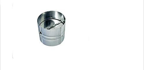 VIOKS Rückstauklappe Rückschlagklappe Einschub Verbindungsstück für Schläuche & Rohre Anschluss: 150mm für Dunstabzugshaube Klimagerät oder Trockner