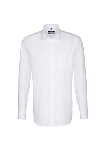 Seidensticker Herren Comfort Passform Bügelfrei Businesshemd, Weiß (Weiß 01), X-Large (Herstellergröße: 43)