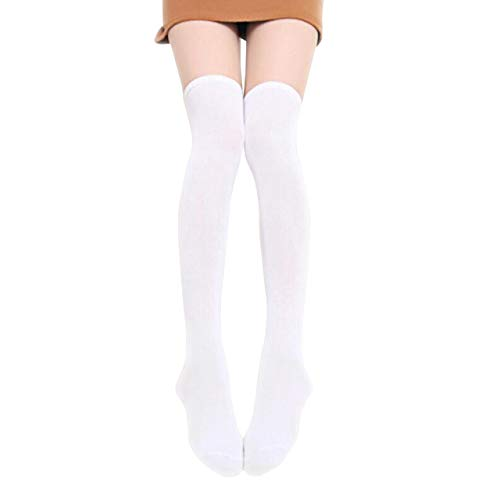 CHIC DIARY Overknee Strümpfe Damen Mädchen Cheerleader Kostüm College Gestreifte Kniestrümpfe Sportsocken Baumwollstrümpfe