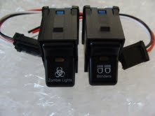 Fits Jeep Special price for a limited time TJ Rocker Switch Pair- Zombie Blinders L lowest price Lights Logo