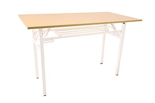 Mesa Plegable Multiusos 120×60 Mesa para Estudiantes Ideal para Home Office Escritorio de Estructura Simple de Fácil Armado Color...