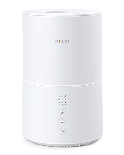 Cool Mist Humidifier, MILIN Top Fill Germ Free Humidifiers for Bedroom, Air Humidifier with Essential Oil Diffuser for Large Room, Baby, Plants, Sleep Mode, Low Water Reminder, 20H, 2L