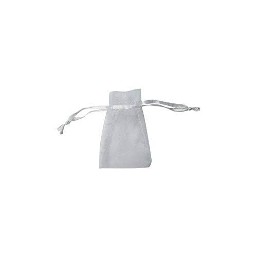 Bolsas de Organza 10 x 13 Color Blanco para arroz, Joyas presentación de Regalos y Detalles Bodas