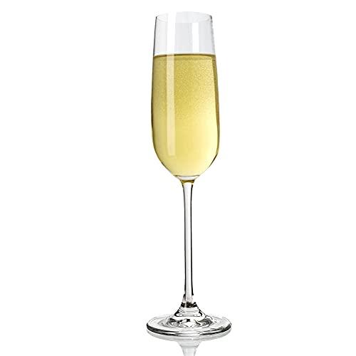 Copas de champán para boda, paquete de 6 copas de vino tinto para regalo