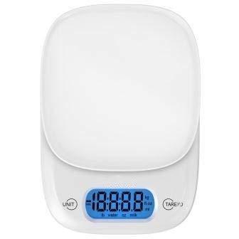 Nobrand AA Elektronische digitale keukenweegschaal LED waterpas melk levensmiddelen koken weegschaal levensmiddelen gewicht meetweegschaal 0303