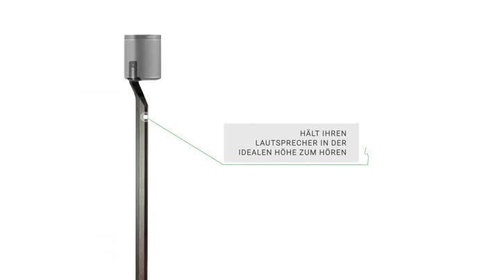 Flexson Premium Stand For Sonos Play 1 Hardwood Inlay Glass Metal English Oak White 1 Stand Mp3 Hifi