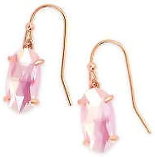 Kendra Scott Blush Dichroic Glass Lemmi Rose Gold Drop Earrings