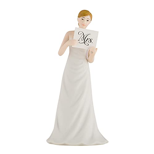 Wedding Cake Topper Hand Painted Porcelain Read My Sign Bride Figu