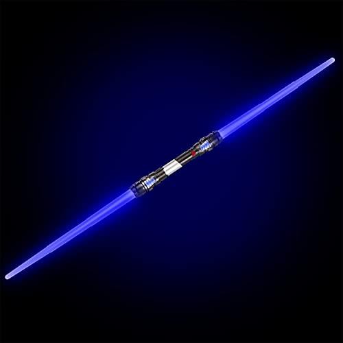 GOODS+GADGETS Sable láser de Doble Hoja 138 cm Sable láser con luz y Sonido (Azul)