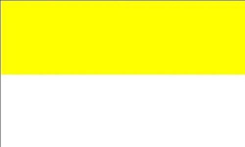 U24 Fahne Flagge Gelb - Weiß Kirchenfahne 90 x 150 cm