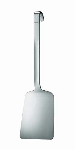 RÖSLE Gastro Kipp-Pfannenschaufel kurz, Hochwertiger Pfannenwender mit 3 mm starkem Edelstahl 18/10, 44,5 cm, extra stabile Ausführung, matt, Spülmaschinengeeignet