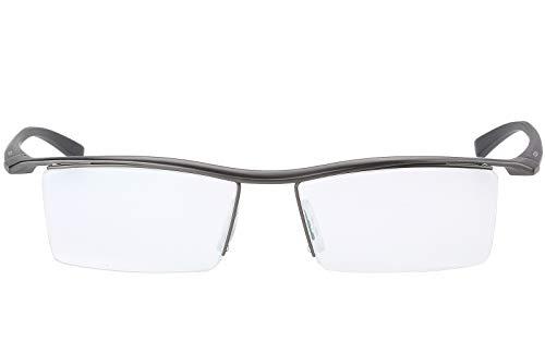 Agstum Pure Titanium Half Rimless Business Glasses Frame Eyeglasses Clear Lens