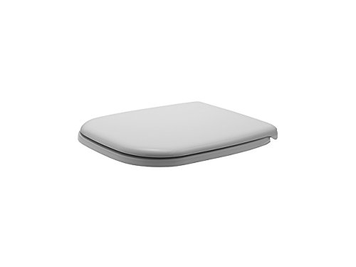 Duravit 0067410000 D-Code Toilet Seat and Cover, Elongated, White Finish
