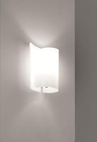 Selene illuminazione Papiro Wandleuchte 70 W, weiß glänzend