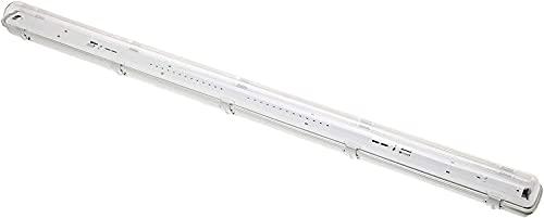 Jandei - Pantalla estanca 120cm para montar 1 tubo LED T8 conector G13 techo, pared, garaje, oficina, taller, cocina