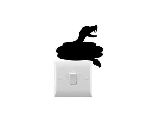DKISEE Novedad Rattlesnake interruptor de luz/etiqueta engomada del coche/etiqueta engomada del ordenador portátil 6'