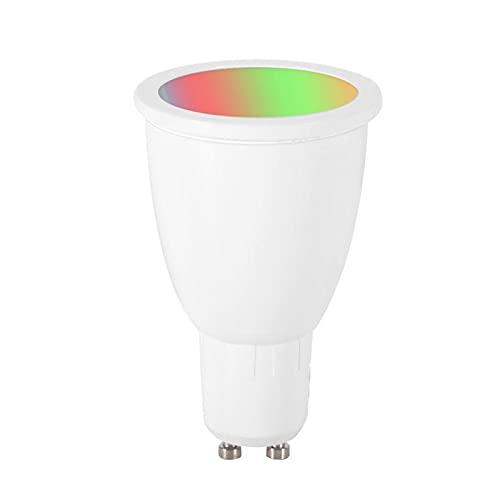 HHF LED Bulbs Lamps, Bombilla de luz LED GU10 6W 60W Equivalente WiFi Smart White Sport Lighting Compatible con Ale-XA Goo-Gle Home Assistant (Color emisivo : Warm White 2700K RGB)