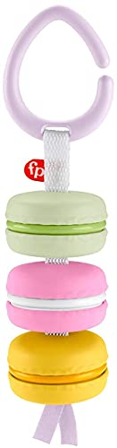 Fisher-Price My First Macaron Pretend Food TakeAlong Baby Rattle Activity Toy, Multicolor