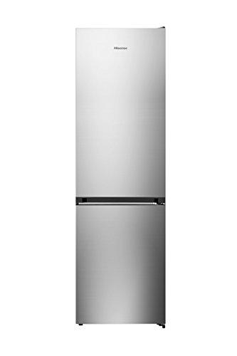 Hisense RB438N4EC3 - Frigorífico Combi No Frost, Acabado Inox, Capacidad Neta 334 L, 2 Metros de Alto, Compresor Inverter, Cajón 0º, Botellero cromado, Silencioso 38 dB