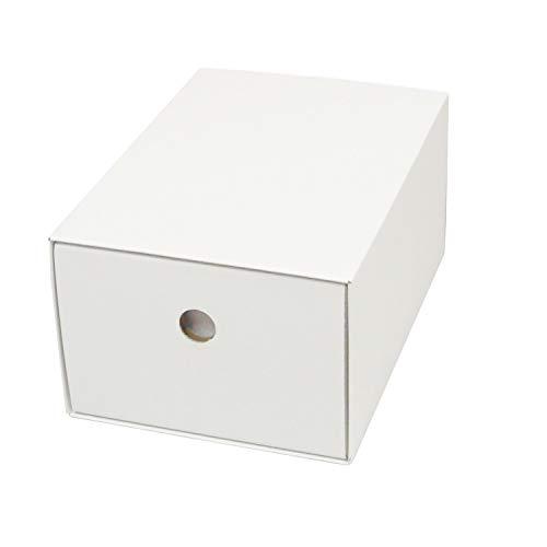 カラーボックス用引出し箱(No.1)【縦置き用】【白】 12枚セット (引き出し 収納ボックス 引き出しボックス 整理ボックス 引き出し箱 ダンボール 段ボール)