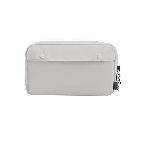 ChengBeautiful Digital Storage Accessory Bag Digital Device Storage Bag Portable Waterproof Digital Accessories Travel Mobile Phone Storage Bag Carry Organiser Case (Color : White, Size : 15x26x6cm)