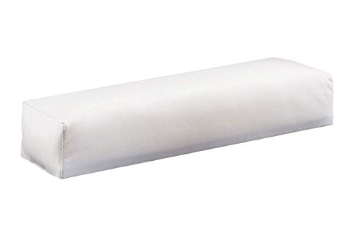 Reposamanos blanco de rizo de KM-Nails, con cierre de velcro