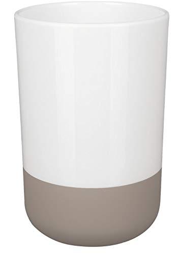 Spirella Zahnputzbecher Zahnbürstenhalter Moji 7,5x11,5 cm Taupe