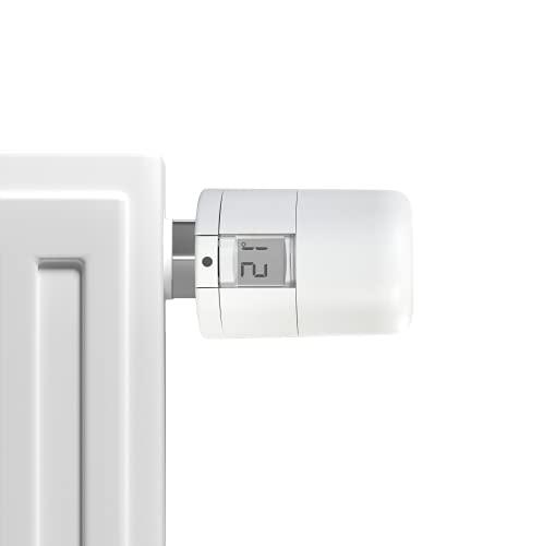 POPP Zigbee Heizungsthermostat, SmartThings & Alexa kompatibel - bis 30 {7aa60b461ece69cc1f5f328dea383f4b250164b1f72aa96c91a95550a2f33a9f} Heizkosten sparen – Heizungssteuerung via Zigbee Funk, Heizungsthermostat inkl. Adapter + Batterien – Heizkörperthermostat