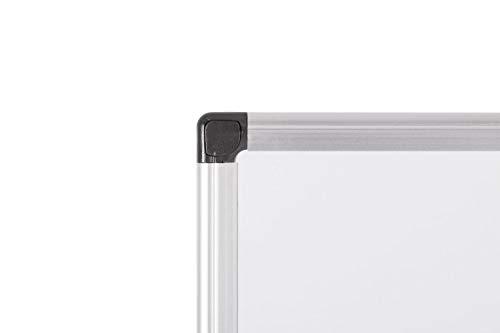 Bi-Office Maya - Lavagna Magnetica Bianca, 60 x 45 cm, Con Cornice In Alluminio, Superficie Magnetica Acciaio Laccato