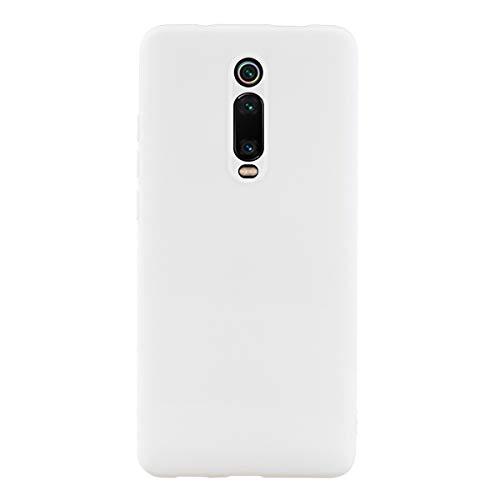 UBERANT Capa para Redmi K20 Pro, à prova de choque com orifício de alça de TPU macio, ultrafina, leve, flexível, capa protetora de borracha para Xiaomi Redmi K20 / K20 Pro/Mi 9T - Branca