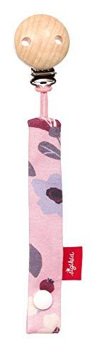 SIGIKID Mädchen, Schnullerband Rosalie Rose, mit Holzclip, empfohlen ab  0 Monaten, rosa, 39298