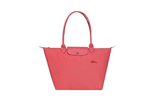 Longchamp 'Large 'Le Pliage Club' Nylon Tote Shoulder Bag, Coral