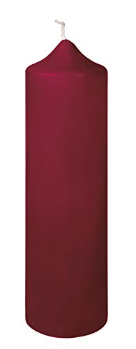 Fink Stumpenkerze - Kerze für Windlicht - dunkel rot getaucht H 30 cm D 8 cm