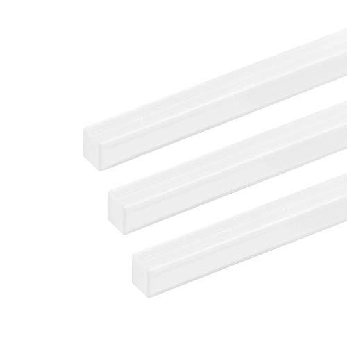 sourcing map 3 Stk. Vierkantstange Stab für Architekturmodellbau ABS Kunststoff 6mm×6mm×20