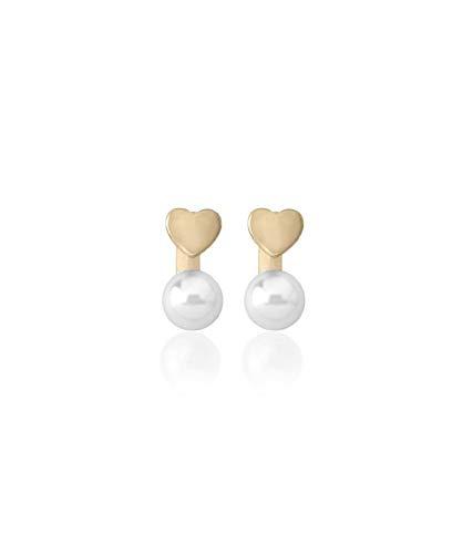Pendientes Majorica Niña Plata chapada y perla 4mm