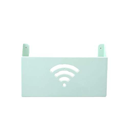 ARLT Caja de Almacenamiento enrutador Cajas de enrutador WiFi con Cable de Cinta de Doble Cara Enchufe de Enchufe de Enchufe de Pared Estante montado en la Pared Organizador de Rack (Color : Green)