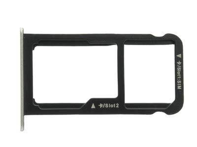 Ellenne  Slot Porta SIM E Memoria SD Oro Gold Compatibile per Huawei P10 Lite