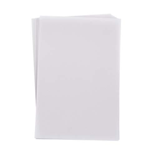 SUPVOX 100 Fogli di Carta Velina Bianca Carta per Schizzi Traslucida Carta Pergamena Carta da Ricalco per Stampa con Stampante Laser a Getto D'inchiostro di Disegno