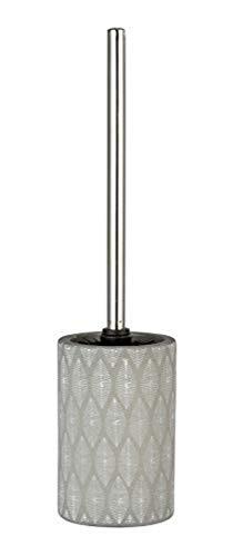 WENKO WC-Garnitur Tupian Grau Keramik - WC-Bürstenhalter, Keramik, 10 x 43 x 10 cm, Grau
