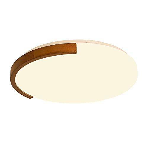 WFZRXFC Pantalla de acrílico Moderna y Simple Lámpara de Techo empotrada LED Lámpara de Techo Decorada con Borde de Madera Luz Blanca 6000K Instalado en el Dormitorio, el Estudio y la Sala de Estar.
