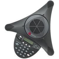 POLYCOM SoundStation 2 mit Display Konferenztelefon für analogen Anschluss (deutscher Stecker)