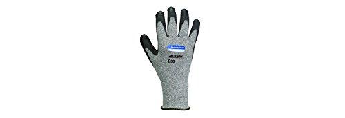 Kimberly Clark 98239 Jackson Safety G60 Schnittfeste Handschuhe Level 5, Handspezifisch, Grau/Schwarz (24-er pack)
