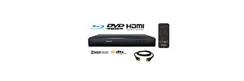 small Philips BDP1502 Blu-ray / DVD Player, Upscaling DVD Video to HD and 6ft HDMI Cables…