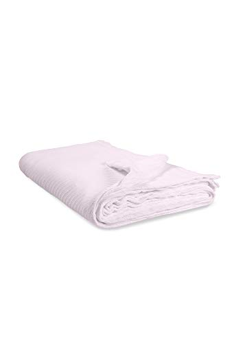 Elite Home 100% GOTS Certified Organic Cotton Super-Soft Bed/Throw Blanket, Orchid, Full/Queen