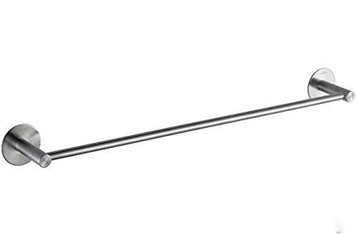 Wangel Handtuchstange Handtuchhalter ohne Bohren 60cm, Patentierter Kleber + Selbstklebender Kleber, Edelstahl, Gebürstetes Finish